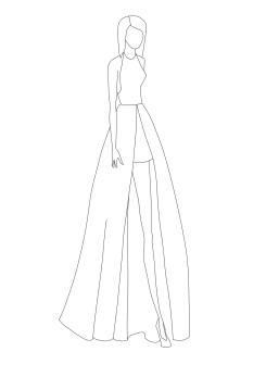 Taylor Swift Grammy's 2015 Vector Line Art