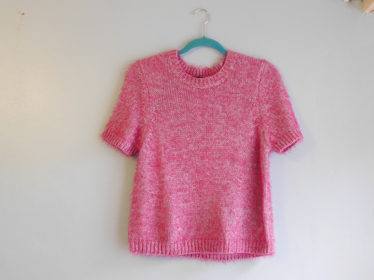 Louise Alice Jay Fluffy Pink Jumper