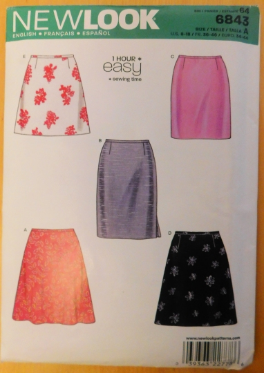 NEW LOOK 6843 SEWING PATTERN SKIRT REVIEW